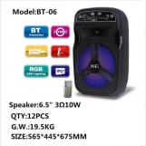 BT-06 Bluetooth 6.5'' Hoparlör Karaoke