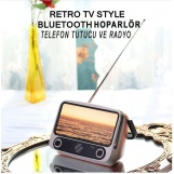 Retro Tv Style Bluetooth Hoparlör